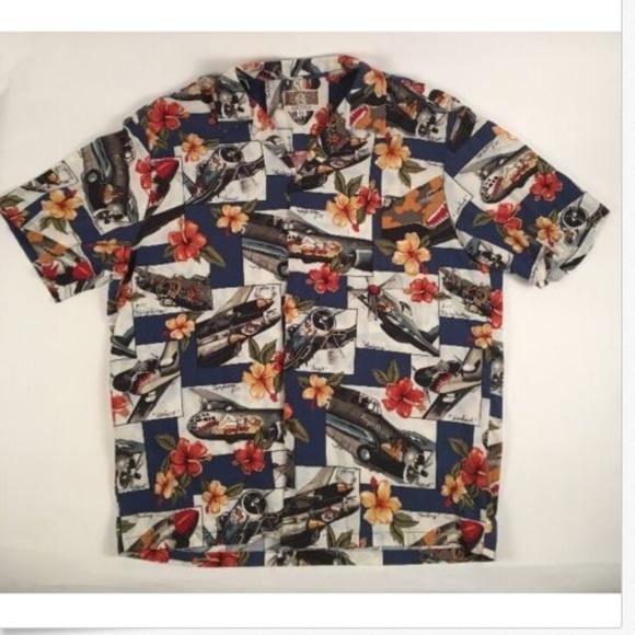 23779a20 Kalaheo Shirts | Mens Hawaiian Shirt World War Ii Plane | Poshmark
